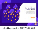 cloud crypto mining concept.... | Shutterstock .eps vector #1057842578