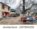 Small photo of Canakkale, Turkey - January 20, 2018; Adatepe Village on the foothills of the Ida Mountains