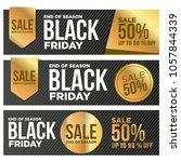 black friday. sale banner set....   Shutterstock .eps vector #1057844339