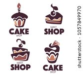 bakery  pastry  confectionery ... | Shutterstock .eps vector #1057849970