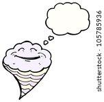 cartoon happy cloud character   Shutterstock . vector #105785936