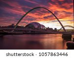 twilight on newcastle quayside  ...   Shutterstock . vector #1057863446