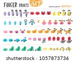 finger prints art. the step by... | Shutterstock .eps vector #1057873736