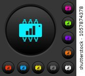 hardware acceleration dark push ... | Shutterstock .eps vector #1057874378