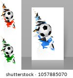 set of three banners with white ... | Shutterstock .eps vector #1057885070