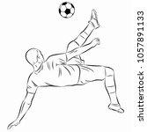 illustration of soccer player   ... | Shutterstock .eps vector #1057891133