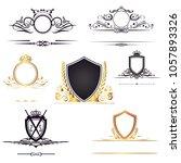 company logo shields | Shutterstock .eps vector #1057893326