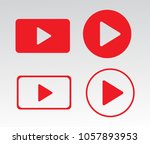 media player buttons vector eps ... | Shutterstock .eps vector #1057893953
