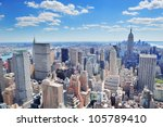 new york city manhattan midtown ... | Shutterstock . vector #105789410