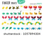 finger prints art. the step by... | Shutterstock .eps vector #1057894304