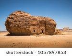 al ula rock   saudi arabia  | Shutterstock . vector #1057897853