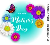 mother's day greeting card with ... | Shutterstock .eps vector #1057898099