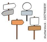 vector set of direction post | Shutterstock .eps vector #1057900859