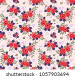 floral seamless pattern with... | Shutterstock .eps vector #1057903694