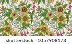 seamless floral pattern with... | Shutterstock .eps vector #1057908173