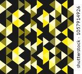 seamless triangle golden... | Shutterstock .eps vector #1057914926