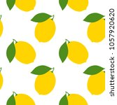 seamless pattern with lemons.... | Shutterstock .eps vector #1057920620