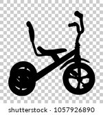 simple silhouette of tricycle ... | Shutterstock .eps vector #1057926890