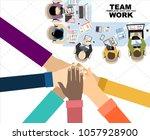 flat design illustration... | Shutterstock .eps vector #1057928900