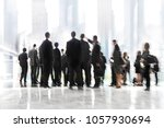 abstract image of people in the ... | Shutterstock . vector #1057930694