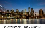panoramic view new york city... | Shutterstock . vector #1057930988