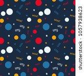 kids bubble creative pattern.... | Shutterstock . vector #1057938623