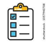a checklist on a clipboard | Shutterstock .eps vector #1057940708