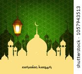 ramadan kareem wallpaper design ... | Shutterstock .eps vector #1057943513