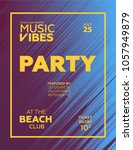 party poster for night club.... | Shutterstock .eps vector #1057949879