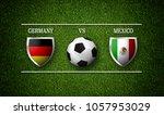 football match schedule ... | Shutterstock . vector #1057953029