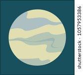 full moon vector illustration.... | Shutterstock .eps vector #1057953386