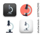 illustration of microscope icon | Shutterstock .eps vector #1057956590