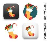 illustration of christmas card... | Shutterstock .eps vector #1057957688