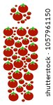 person composition of tomato in ... | Shutterstock .eps vector #1057961150