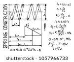 spring construction. physics... | Shutterstock .eps vector #1057966733