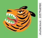tiger head illustration   Shutterstock .eps vector #1057968980