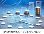 the concept of economic growth  ... | Shutterstock . vector #1057987070