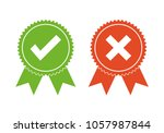 approved and rejected icon logo.... | Shutterstock .eps vector #1057987844