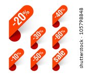 discount labels. vector. | Shutterstock .eps vector #105798848
