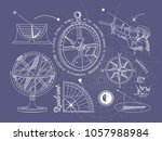 vintage measuring instruments...   Shutterstock .eps vector #1057988984
