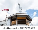 windsock on air traffic control ...   Shutterstock . vector #1057991549