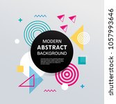 modern abstract geometric... | Shutterstock .eps vector #1057993646