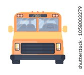 city or school bus. vehicle for ... | Shutterstock .eps vector #1058003279