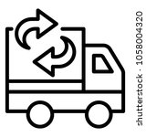 a pickup van with relocating... | Shutterstock .eps vector #1058004320