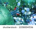 antibodies  immunoglobulins ... | Shutterstock . vector #1058004536