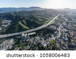 aerial view of ventura 101... | Shutterstock . vector #1058006483