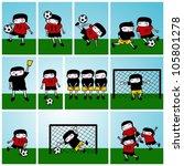 soccer kids vector illustration   Shutterstock .eps vector #105801278