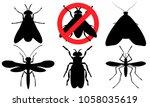 set of flying pests.... | Shutterstock .eps vector #1058035619