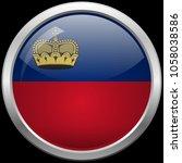 liechtenstein flag glass button ... | Shutterstock .eps vector #1058038586