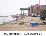 quayside at wells next the sea  ...   Shutterstock . vector #1058039519